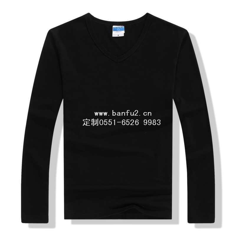 v领长袖T恤衫