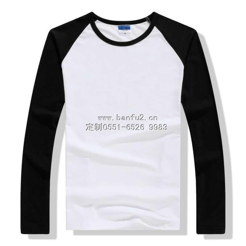 长袖圆领插肩袖T恤