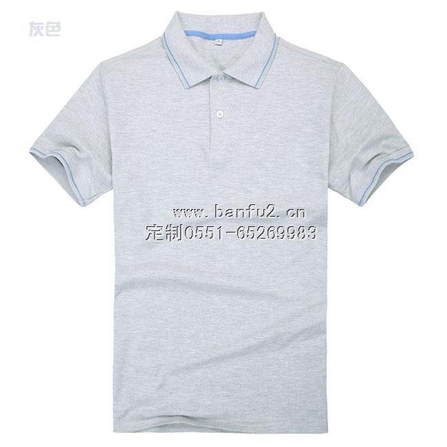 翻领高档间色领T恤